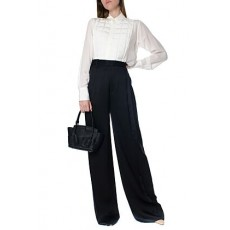 [해외]20FW[보테가베네타]Black flared style crepe crepe de chine trousers _  599730 VKJ901000