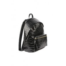 [해외]21SS[GIULIANO GALIANO]Falcon backpack in crocodile-effect embossed leather _  FALCON CROCNERO