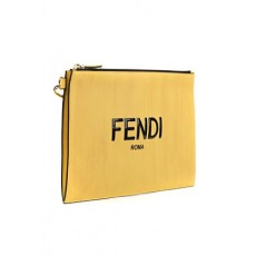 [펜디]Fendi yellow flat pouch in leather _  7N0110 ADP6F1CIA