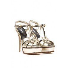 [생로랑]Tribute platinum metallic leather sandals _  534277 0PS007100