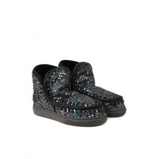 [MOU]Eskimo sneakers ankle boots in sheepskin covered with sequins _  MU.FW111019G Eskimo sneaker sequins logoSQCLA