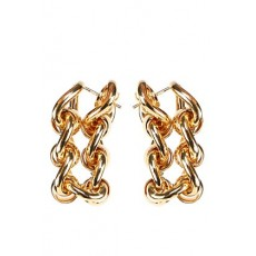 [보테가베네타]Metal chain hoop earrings _  651137 VAHU08120