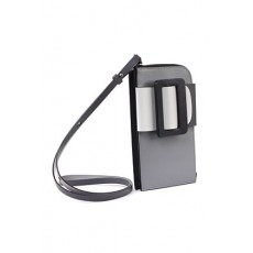 [해외]21SS[보이백]Phone case buckle crossbody in color block leather _  BUCKLE CROSS BODY PHONE CASE COLOR BLOCK -BIRCH / IRON