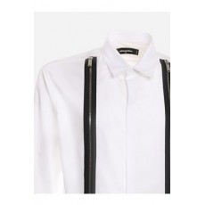 [해외]21SS[디스퀘어드]Cotton shirt with contrasting zip bands detail _  S71DM0458 S36275100